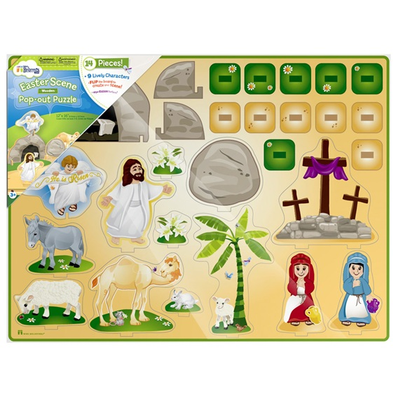 Alleluia! - Easter Wooden Pop-Out Puzzle