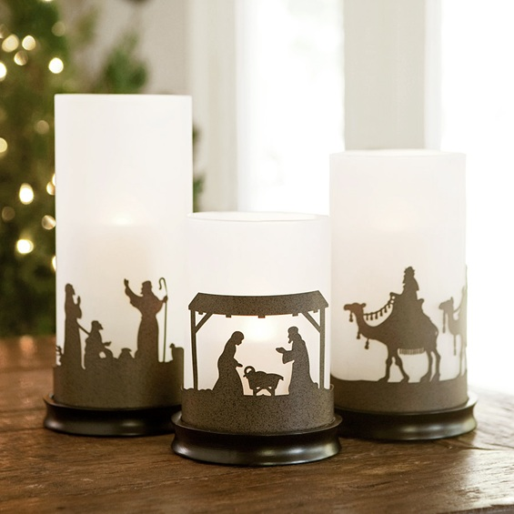 Hurricane Candle Holder Set - Includes Six Sleeves